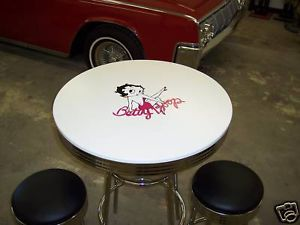 Betty Boop Table Chairs Bar Stool 50s Diner Game Room