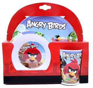 Rovio Angry Birds Children 3pc Dining Gift Set Plate Bowl Cup