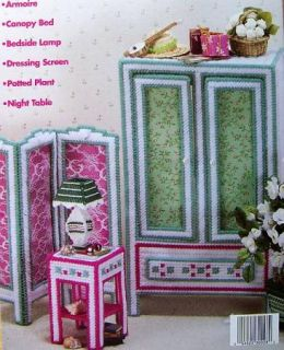 Plastic Canvas Fashion Doll Bedroom Suite Patterns House of White Birches