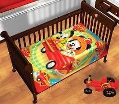 Disney Mickey Mouse Blanket Throw Crib Bedding Plush