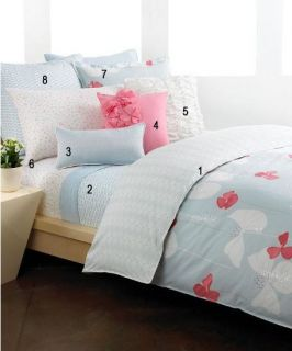 Style Co Plumeria Reversible Embroidered Duvet Cover Twin
