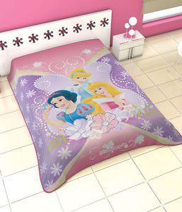 Disney Princess Belle Aurora Snow White Twin Korean Mink Blanket Plush Throw New