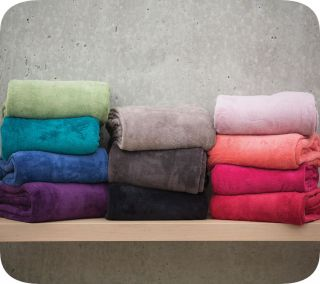 Grey Marle Soft Warm Microplush Blanket Throw Rugs