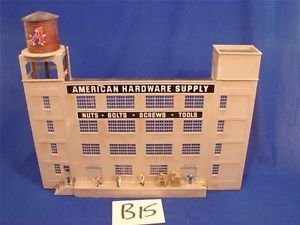 B15 HO Scale Gauge Plastic Model Train American Hardware Supply Wall Building
