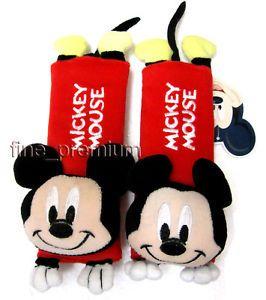 2pcs Mickey Mouse Car Seat Belt Cover Shoulder Pad