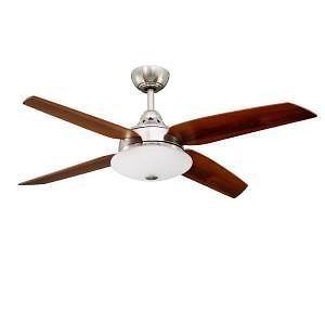 Hampton Bay Casselberry 52 inch Ceiling Fan w Light Kit Remote Control Nickel