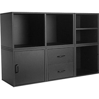 Foremost Holdems 5 in 1 Modular Cube Storage System Kit, Black
