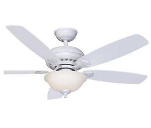 "Hampton Bay Southwind 52"" Ceiling Fan with Light Kit Bright White Finish"