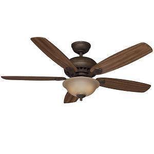 "Hampton Bay Southwind 52"" Ceiling Fan with Light Kit Venetian Bronze Finish"