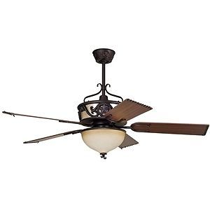 "Ellington Ceiling Fans LS52ABZ5CRGD Lone Star 52"" Ceiling Fan w Bowl Light Kit"
