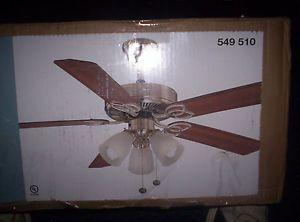 "Hampton Bay Brookhurst 52"" Ceiling Fan in Brushed Nickel"