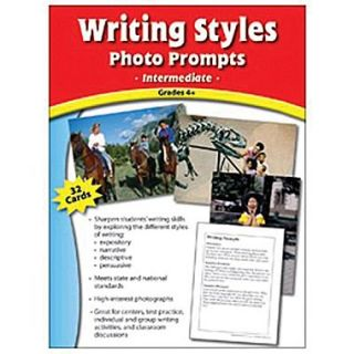 Edupress Writing Styles Photo Prompts Card, Grades 4th+