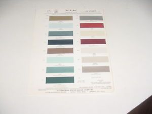 1965 Plymouth Barracuda Paint Chip Chart
