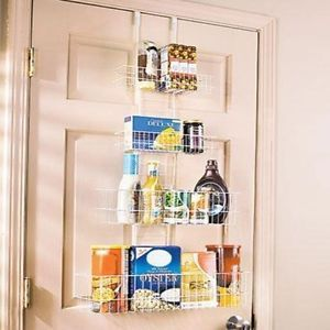 Over The Door Adjustable Organizer Food Comida Pantry Bathroom Closet Wire Rack