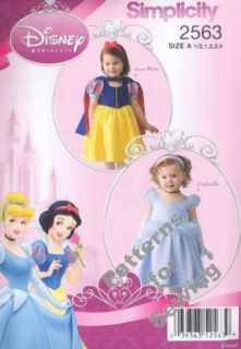 Pattern Disney Princess Snow White Cinderella Costume Girl Baby SZ1 2 4 New