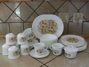 53 PC Vintage Corelle Indian Summer Dinnerware Dish Set 10 Place Settings
