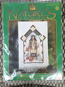 Vintage Southwest Cross Stitch Kit Indian Native American Angel Christmas