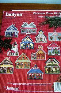 Janlynn Victorian Village Christmas Cross Stitch Ornaments Kit