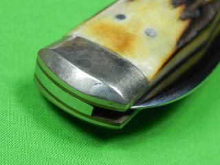 Set of 2 US Limited Elk Horn Taylor Cutlery Plains Series Folding Pocket Knife