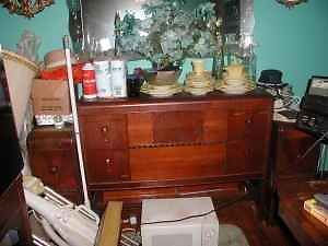 Vintage Waterfall Dining Room Furniture