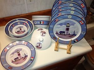 Scintillating Nautical Melamine Dinnerware Sets Contemporary - Best ... Scintillating Nautical Melamine Dinnerware Sets Contemporary Best & Appealing Lighthouse Dinnerware Gallery - Best Image Engine ...