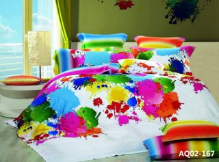 New 100 Cotton Graffiti Art Quilt Duvet Comforter Cover Double Size Bedding Set