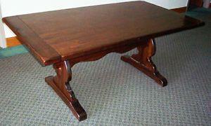 Ethan Allen Antique Pine Trestle Table