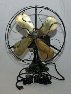 "Antique Vintage GE General Electric 1920's Metal Blade 16"" Fan Cat 75425 Aou"