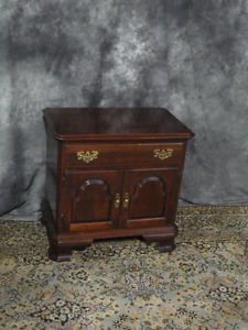 Beautiful Signed Ethan Allen Solid Cherry Nightstand Table