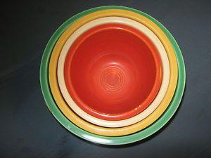 Vintage Fiesta Ware Mixing Nesting Bowls 2 thru 5