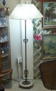Vintage Rembrandt Floor Lamp Model R7041 Marble Base Twisted Metal Awesome