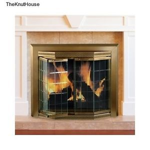 Glass Fire Screen Bifold Doors Mantels Remodel Living Bedroom Fireplace Gas Wood