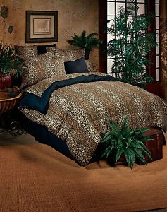 Bed in A Bag Leopard Animal Print Comforter and Sheet Set More