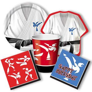 Martial Arts Black Belt Karate Birthday Party Supplies Pick Only What You Need
