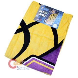 Los Angeles Lakers Beach Bath Towel 30 x 60 Cotton NBA Big Basket Ball Logo