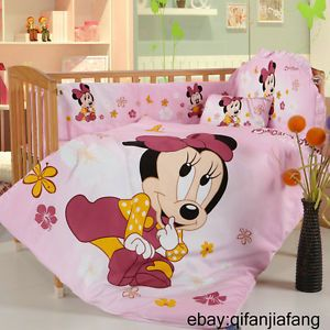 Stunning Disney Minnie Mouse Baby Crib 6pc Comforter in A Bag Highlyrecommended