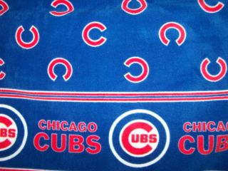Chicago Cubs Baseball MLB Fleece Throw Blanket