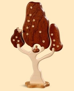 Deciduous Tree with Birds Milled Height 20 cm 8 inch Natural MU 45100 New