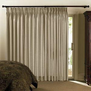 Chris Madden Mystique Interlined Drapes Light Beige Pinch Pleated Curtains