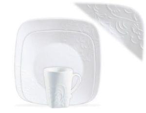 ... 16pc Corelle Boutique Cherish Embossed Square Dinnerware Set Vitrelle Glass New ...  sc 1 st  PopScreen & Corelle Boutique Cherish Square 16 PC Dinnerware Set SEALED in Box