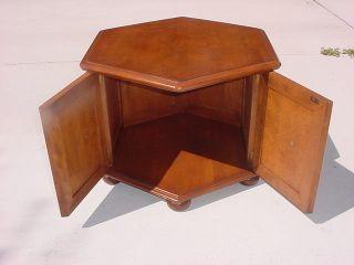 Ethan Allen Heiroom Hexagonal Storage Table Early American Furniture
