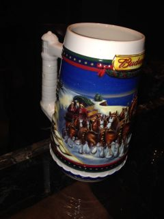 2000 Budweiser Clydesdales Holiday Stein