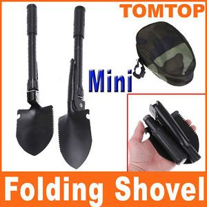 Mini Survival Folding Shovel Spade Emergency Garden Camping Hiking Outdoor Tool