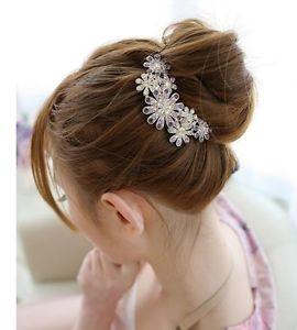 Hair Accessories Flower Hair Comb Rhinestone Crystal Hair Comb