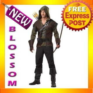 C156 Mens Robin Hood Thieves Medieval Warrior Fancy Dress Adult Costume
