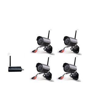 Digital Wireless Security Camera System 4CH IR Nightvision Outdoor USB DVR CCTV