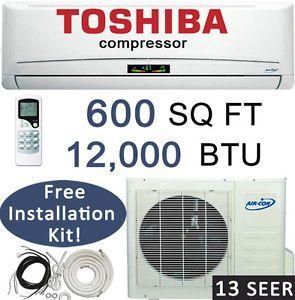 12 000 BTU Ductless Mini Split Air Conditioner Heat Pump 1 Ton 25 Feet Lineset