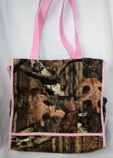 Mossy Oak Infinity Camo Camouflage Pink Diaper Bag or Tote Deer