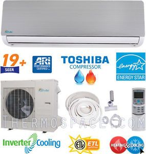 19 SEER Inverter Energy Star AC Ductless Mini Split Air Conditioner Heat Pump