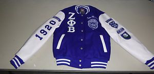 Zeta PHI Beta Letterman Jacket Blue White Small One Greek Store CLEARANCE Sale